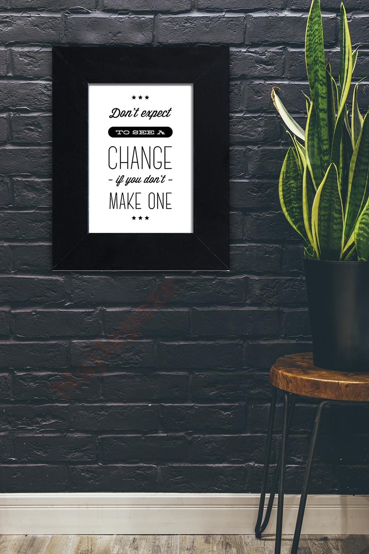plakat typograficzny w ramie