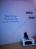 Naklejka na ścianie u klienta
