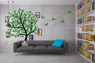 Naklejka ścienna drzewo genealogiczne ze zdjęciami - ptaki, ramki - DZ-NA-04