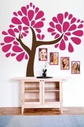 Naklejka ścienna drzewo genealogiczne ze zdjęciami - ramki, zdjęcia - DZ-NA-10