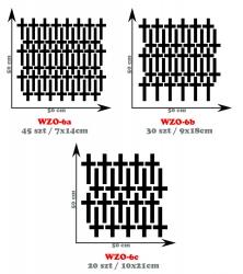 Naklejka w stylu skandynawskim - krzyżyki o różnych wielkościach WZO-6