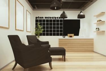 Plan miesięczny - tablica kredowa na ścianę - TAB-3 KREDA GRATIS!!!