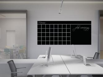 Plan miesięczny - tablica kredowa na ścianę - TAB-5 KREDA GRATIS!!!