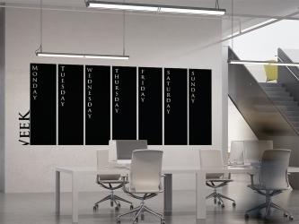 Week - tablica kredowa na ścianę - TAB-13 KREDA GRATIS!!!
