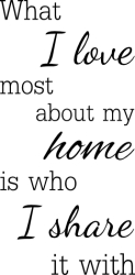 What I love most about my home is who I share it with ? NA-89