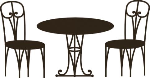 Naklejka ścienna - stół z krzesłami kuch-13