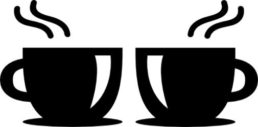 Naklejka ścienna - dwie filiżanki KUCH-NA-14