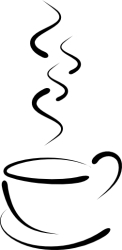 Naklejka ścienna - Cup of coffee KUCH-NA-16