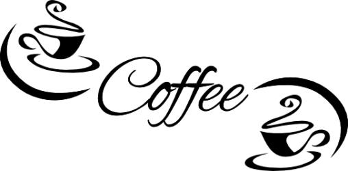Naklejka ścienna - coffee kuchnia-17