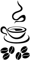 Naklejka ścienna - gorąca kawa KUCH-NA-20