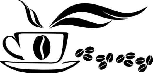 Naklejka ścienna - ziarenka kawy KUCH-NA-3