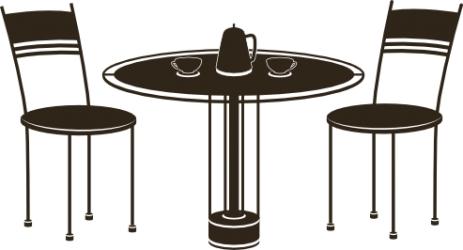 Naklejka ścienna - wzór kawy KUCH-NA-5