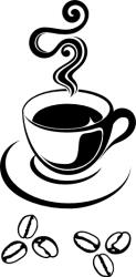 Naklejka ścienna - filiżanka z kawą kuchnia-9