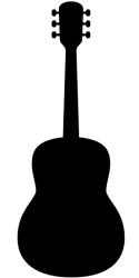 Naklejka ścienna - gitara akustyczna MUZ-NA-3