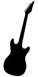 Naklejka ścienna - gitara na ścianę MUZ-NA-8