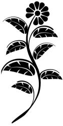 Naklejka ścienna - kwiatuszek KW-NA-12