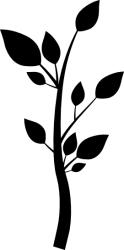 Naklejka ścienna - łodyga z liśćmi KW-NA-19