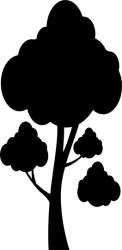 Naklejka ścienna - drzewko KW-NA-20