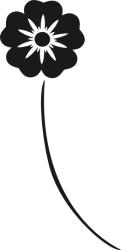 Naklejka ścienna - kwiatek (wzór) KW-NA-23
