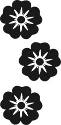 Naklejka ścienna - trzy kwiatki KW-NA-24