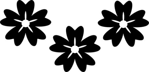 Naklejka ścienna - trzy kwiatuszki KW-NA-25