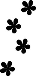 Naklejka ścienna - cztery kwiatuszki KW-NA-26
