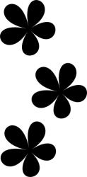 Naklejka ścienna - trzy kwiatki naklejka KW-NA-27